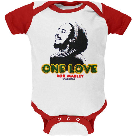 Bob Marley - One Love Red and White Baby One Piece