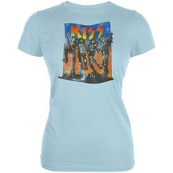 Kiss - Full Color Juniors Light Blue T-Shirt