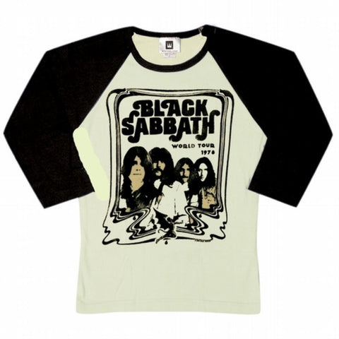 Black Sabbath - Ladies Baseball T-Shirt