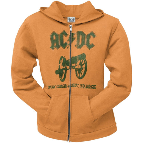 AC/DC - For Those About To Rock Juniors Zip Up Hoodie