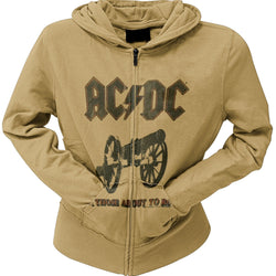 AC/DC - About To Rock Juniors Zip Hoodie