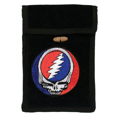 Grateful Dead - Embroidered Black Passport Bag