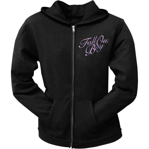 Fall Out Boy - Night Tree Juniors Zip Long Sleeve Hooded Shirt