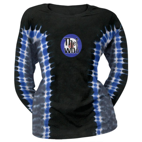 The Who - Logo TieDye Juniors Long Sleeve T-Shirt