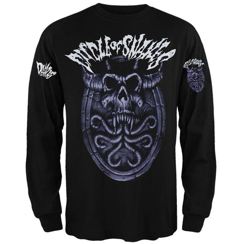 Danzig - Circle Of Snakes Skull Adult Long Sleeve T-Shirt