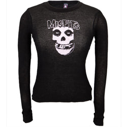 Misfits - Pink Skull Sheer Juniors Thermal