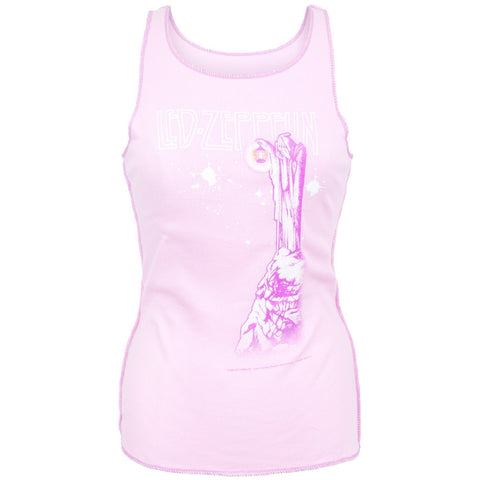 Led Zeppelin - Stairway Pink Juniors Tank Top