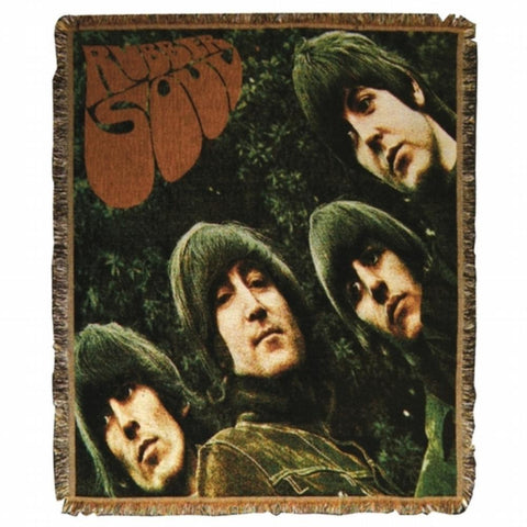 Beatles - Rubber Soul Throw Blanket