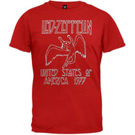 Led Zeppelin - 1977 Red T-Shirt