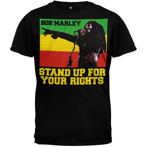 Bob Marley - Stand Up Black T-Shirt