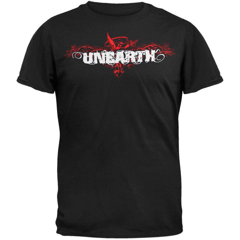 Unearth - Red Angel Black Adult T-Shirt
