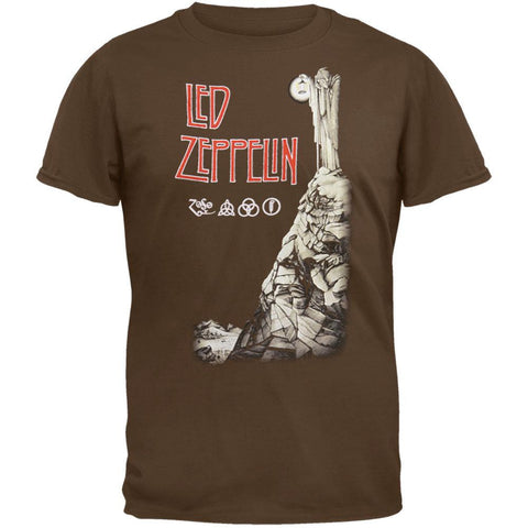 Led Zeppelin - Stairway To Heaven Brown T-Shirt