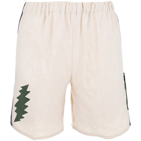 Grateful Dead - Lightning Bolt Natural Youth Shorts