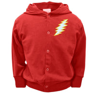 Grateful Dead - Red Bolt Toddler Snap Hoodie