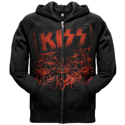 Kiss - Red Hit Zip Hoodie