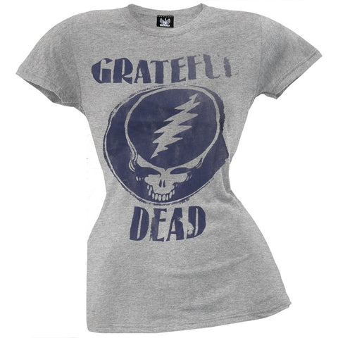 Grateful Dead - Distressed Stealie Juniors T-Shirt