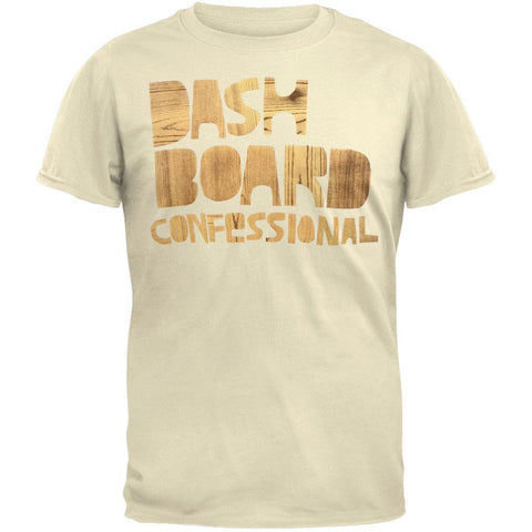 Dashboard Confessional - Wood Grain Soft T-Shirt