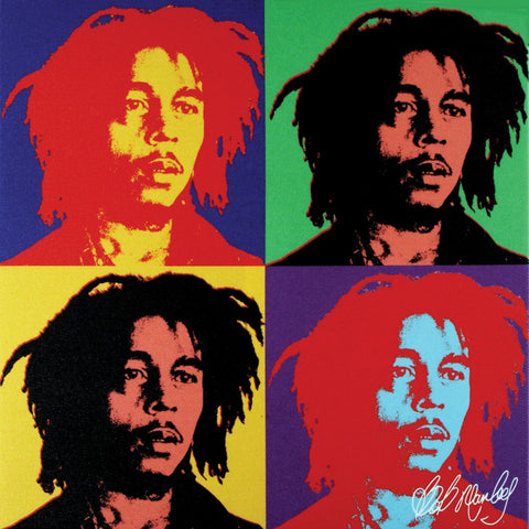 Bob Marley - Warhol Small Canvas Print