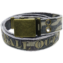 Fall Out Boy - Logo Camo Canvas Belt
