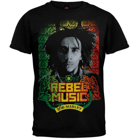 Bob Marley - Rebel Music Portrait T-Shirt