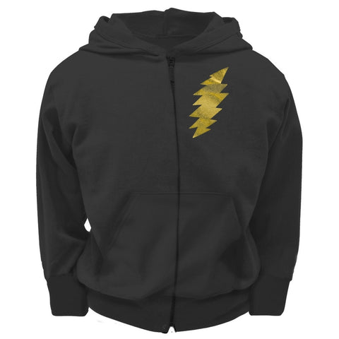 Grateful Dead - Foil Bolt Black Youth Zip Hoodie
