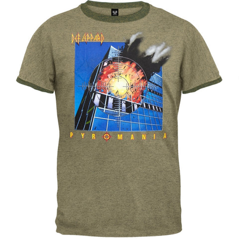 Def Leppard - Pyromania Soft Adult Ringer T-Shirt