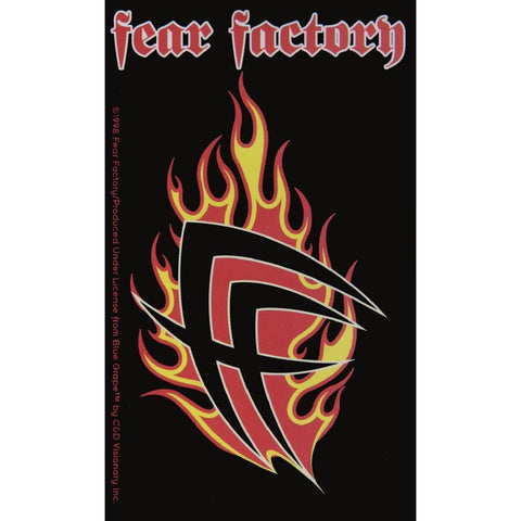 Fear Factory - Flaming Logo Decal