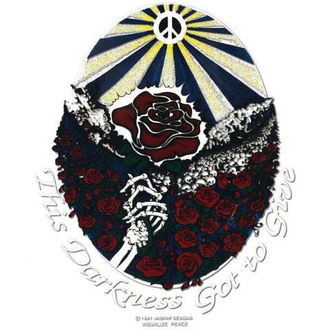 Grateful Dead - Darkness Got to Give Cling-On Decal