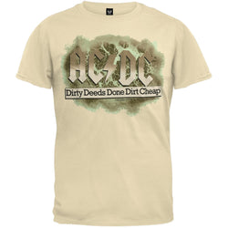 AC/DC - Dirty Deeds Soft Tan T-Shirt