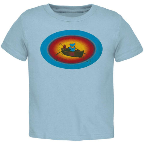 Grateful Dead - Terrapin & Bear Dinghy Light Blue Toddler T-Shirt