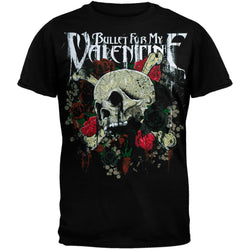Bullet For My Valentine - Skull & Roses Graphic Adult T-Shirt