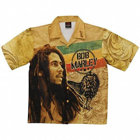 Bob Marley - Vintage Bob & Lion Club Shirt