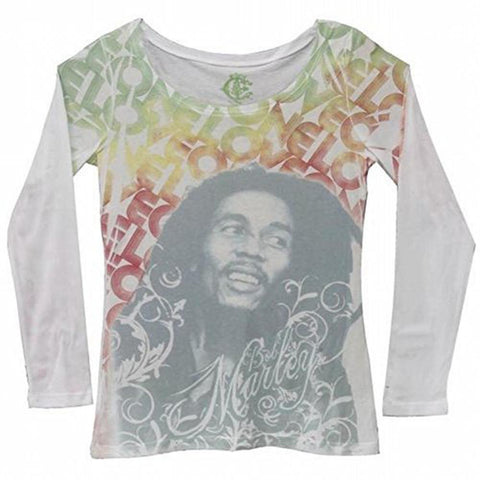 Bob Marley - One Love Juniors Long Sleeve T-Shirt