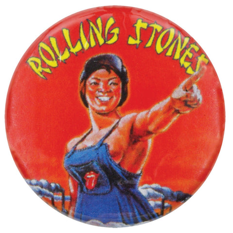 Rolling Stones - Worker Woman Button