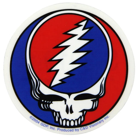 Grateful Dead - Steal Your Face Medium Clear Decal