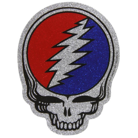 Grateful Dead - Steal Your Face Glitter Die Cut Decal
