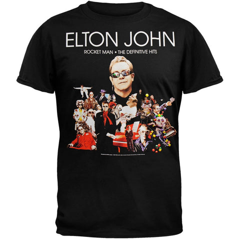 Elton John - Rocket Man 08 Black Tour T-Shirt