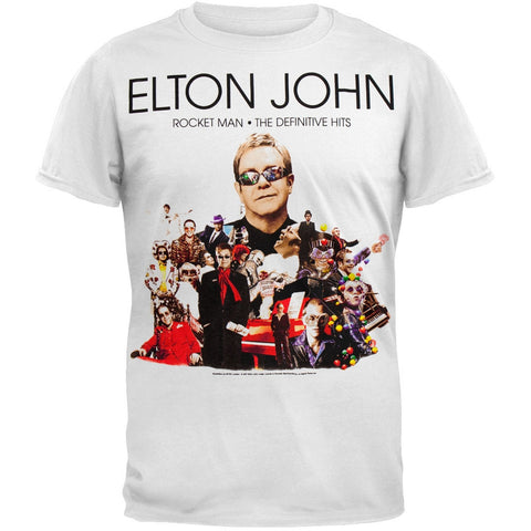Elton John - Rocket Man 08 Blue Tour T-Shirt