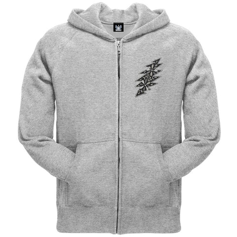 Grateful Dead - Black & White Calaveras Grey Adult Zip Hoodie