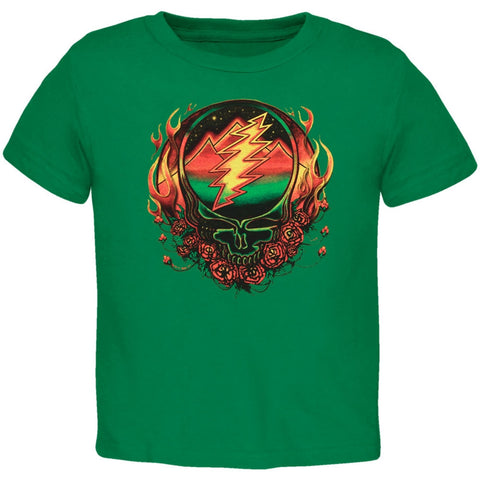 Grateful Dead - Scarlet Fire SYF Green Toddler T-Shirt