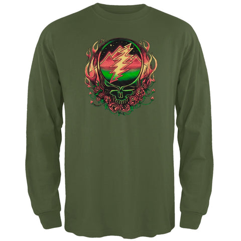 Grateful Dead - Scarlet SYF Dark Green Long Sleeve T-Shirt