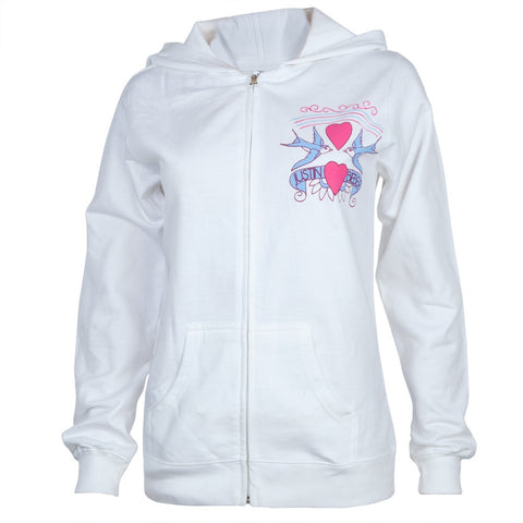 Justin Bieber - Love Birds Juniors Zip Hoodie