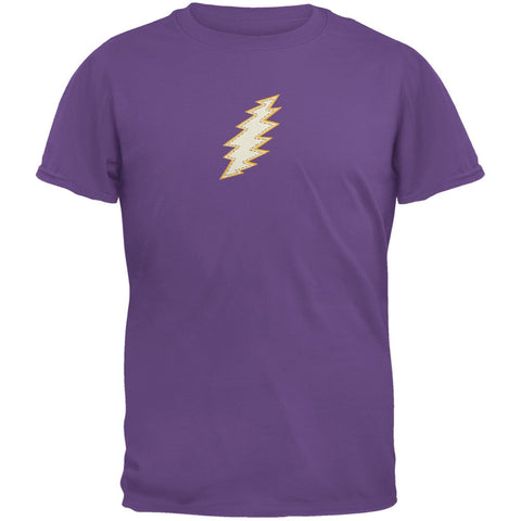 Grateful Dead - Stitched Bolt Purple Youth T-Shirt