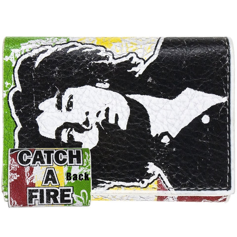 Bob Marley - Catch A Fire Leather Wallet