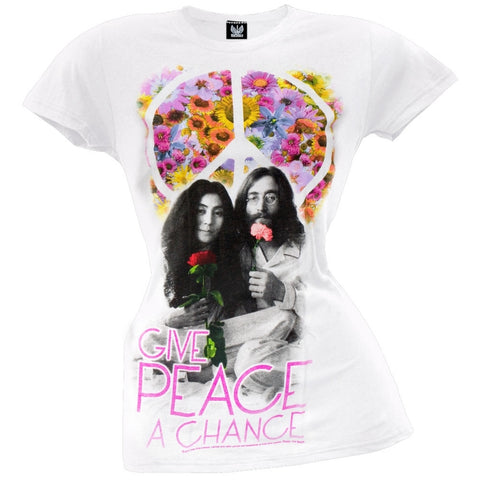John Lennon - Flower Peace Juniors T-Shirt