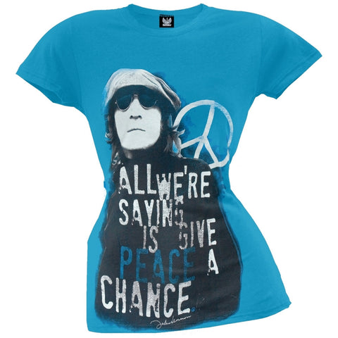 John Lennon - Give Peace Juniors T-Shirt