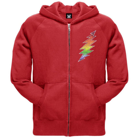 Grateful Dead - Lightning Bolt Red Adult Zip Hoodie