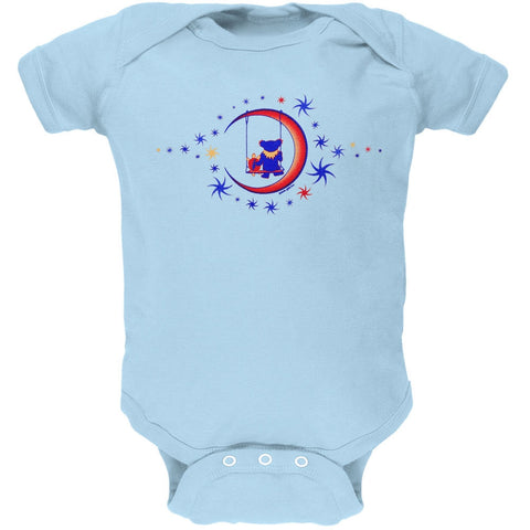 Grateful Dead - Moon Swing Light Blue Baby One Piece