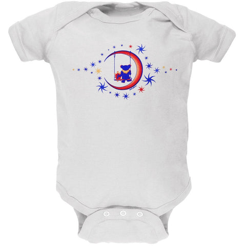 Grateful Dead - Moon Swing White Baby One Piece