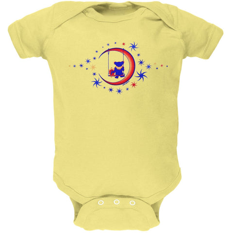 Grateful Dead - Moon Swing Yellow Baby One Piece